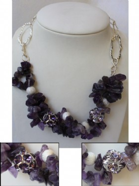 Short amethyst  necklace