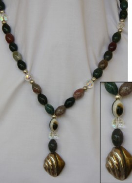 Long Necklace-green.mexican