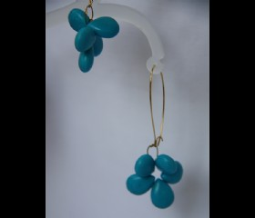Turquoise bunch earrings