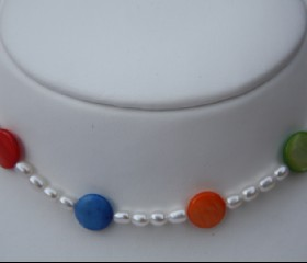 Pearls with colours necklace